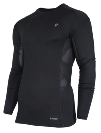 Donnay Heren - Baselayer shirt lange mouw - Zwart