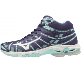MIZUNO WAVEVOLTAGE MID DAMES ASTRAL/AURA/WHT/BLUELIGHT