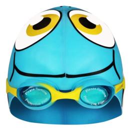 Waimea Zwemmuts Vis met Zwembril Junior Lichtblauw