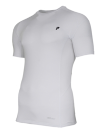 Donnay Heren - Baselayer shirt korte mouw - Wit