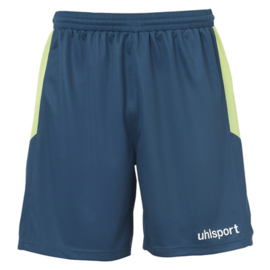 UHLSPORT GOAL SHORT PETROLE/VERT FLASH