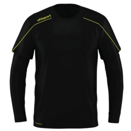 UHLSPORT STREAM 22 KEEPERSSHIRT BLACK / FLUO YELLOW