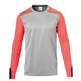 UHLSPORT TOWER KEEPERSSHIRT DARK GREY MELANGE/FLUO RED