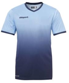 Uhlsport Division Shirt korte mouw sky blue/navy