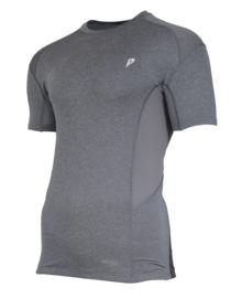 Donnay Heren - Baselayer shirt korte mouw - Grijs gemêleerd