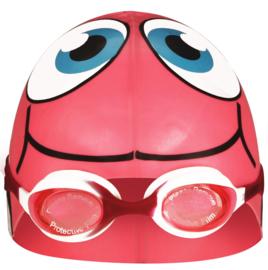 Waimea Zwemmuts Vis met Zwembril Junior Fuchsia