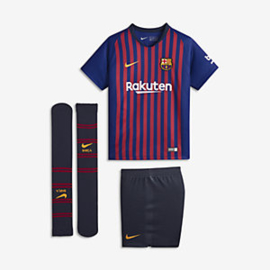 NIKE FC BARCELONA STADIUM HOME 18/19 KIDS SET MINI