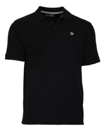 Donnay Heren - Polo pique shirt Noah - Zwart