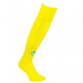 UHLSPORT TEAM ESSENTIAL CHAUSSETTES JAUNE PAILLE/CYAN