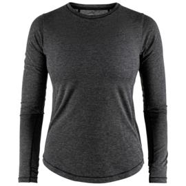 Craft Urban Hardloopshirt Lange Mouwen Black Melange Dames