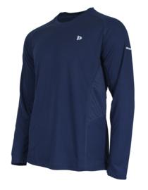 Donnay Heren - Multi Sport T-shirt lange mouw - Donkerblauw