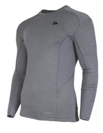 Donnay Heren - Baselayer shirt lange mouw - Grijs gemêleerd