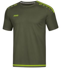 JAKO T-shirt/Shirt Striker 2.0 KM Kaki/Fluogroen