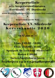 keepersclinic kerstvakantie 2020 V.V. Sliedrecht