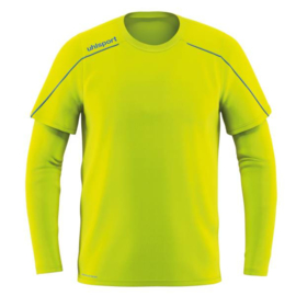 UHLSPORT STREAM 22 KEEPERSSHIRT FLUO YELLOW / RADAR BLUE