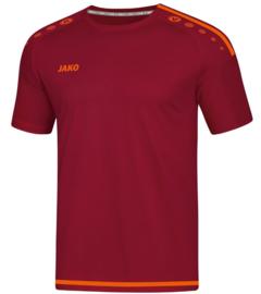 JAKO T-shirt/Shirt Striker 2.0 KM Wijnrood/Fluo oranje