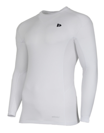 Donnay Heren - Baselayer shirt lange mouw - Wit