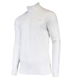 Campri Heren - Skipully - shirt met col - Wit