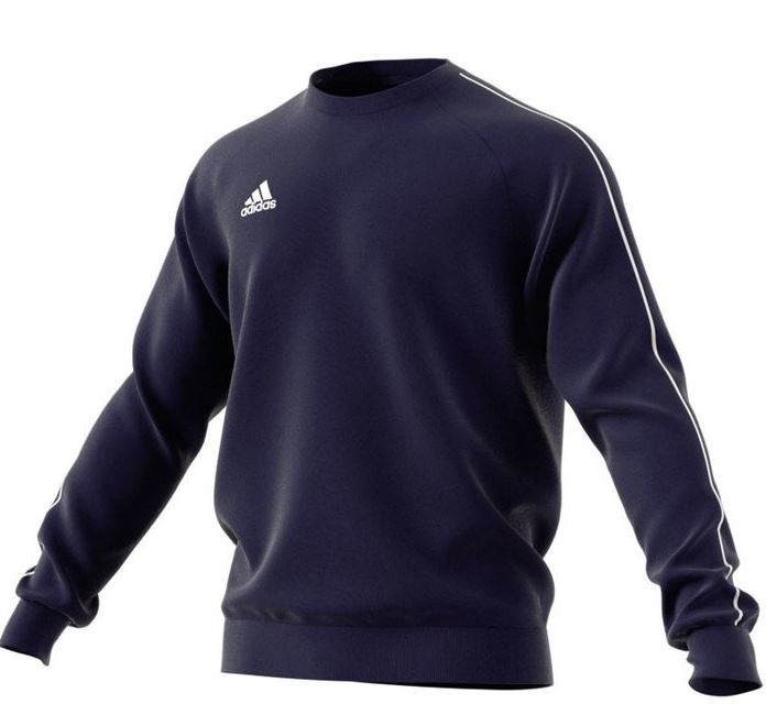 Adidas Core 18 Sweat Top Dark Blue Senior