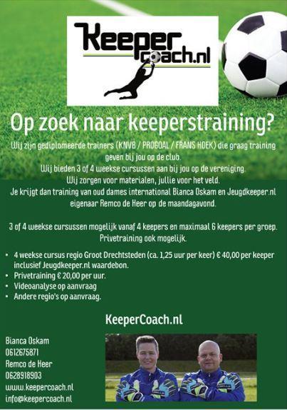 Keepercoach.nl Partner van Jeugdkeeper.nl