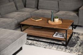 Salontafel met onderplank - oud hout/ijzer