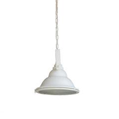 Industriële metalen hanglamp van Kolony met glas offwhite (MF041W)