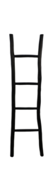 Decoratieve ladder - naturel/zwart