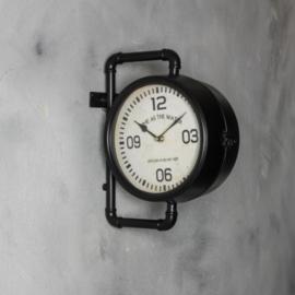 Buisklok Industrieel (dubbelzijdig) 29 x 35 cm