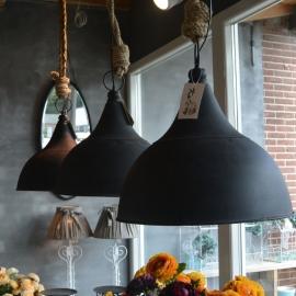 Metalen hanglamp met touw XL - Kolony (MF028)