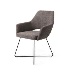 Jesper home Yanai Eetkamerstoel - Amazing Grey, Cross Black