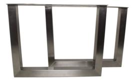U-poten voor salontafel - stainless - metaal - set