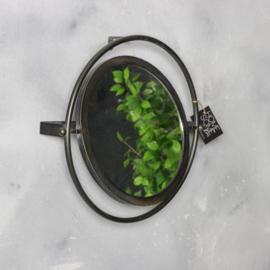 Wandspiegel zwart metaal 47cm