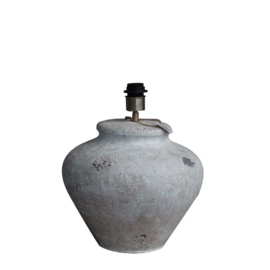 Aardewerk lampenvoet in betonlook