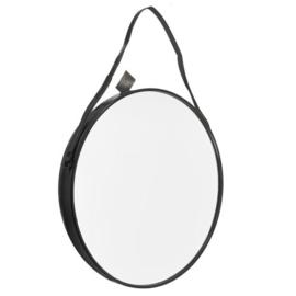 Spiegel zwart en rond - extra groot 80 cm