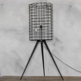 Metalen vloerlamp met gaas 140cm,