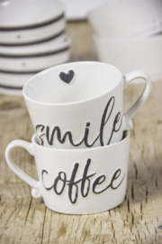 Mok White Smile/coffee Bastion Collections