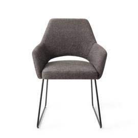 Yanai Eetkamerstoel -Slide Black - Amazing grey