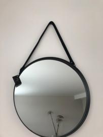 Metalen spiegel rond 40x3cm