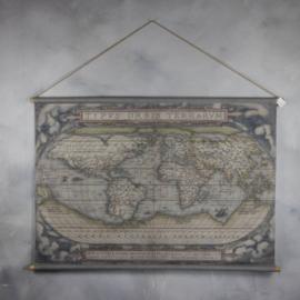 Oude wereldkaart 124x85cm fk1656