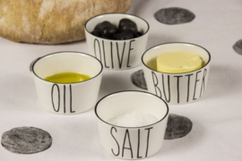 Bastion Collections Bowl Mini | Set 4 | Salt, Butter, Oil & Olive |