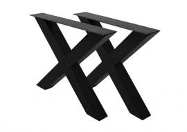 Onderstel metaal  X, H, A, U poten - set