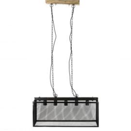 Hanglamp met gaas en 5 lichtpunten