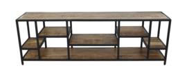 TV dressoir Levels - mangohout/ijzer