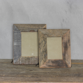 Fotolijst gerecycled hout assorti 32x25cm