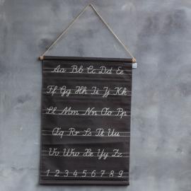 Oude schoolkaart alfabet 64x88cm