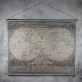 Oude wereldkaart 154x85cm fk1657