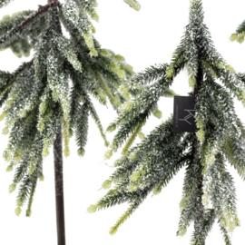 Kerstboom kunst met sneeuw