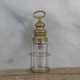 Windlicht metaal inclusief lamp 12x35.5cm