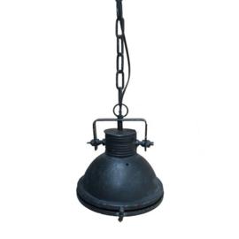 Industriële hanglamp met glas metaal zwart XS (mf056)