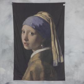 Wanddoek meisje met de parel 120x180cm